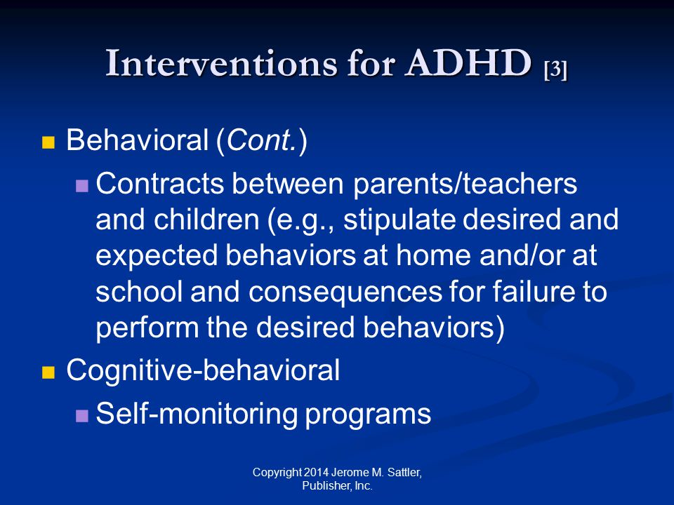 Interventions for ADHD [3]